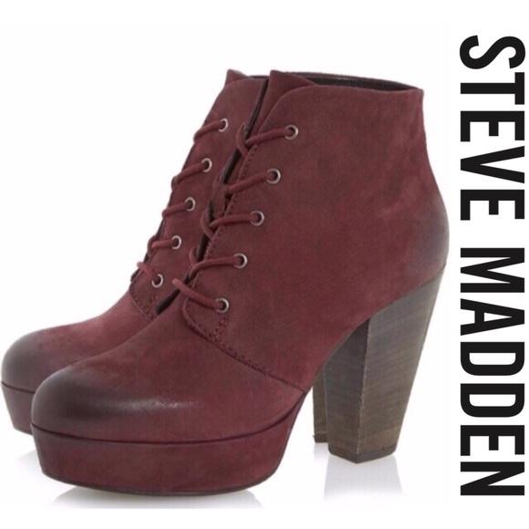 "c727cc6530c Steve Madden ""Raspy"" Chunky Platform Ankle Boot💋.  M 5a9ce49c1dffda7f66896fe4"